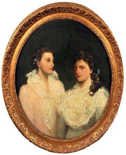 Portrait of Ethel and Adele Clabburn